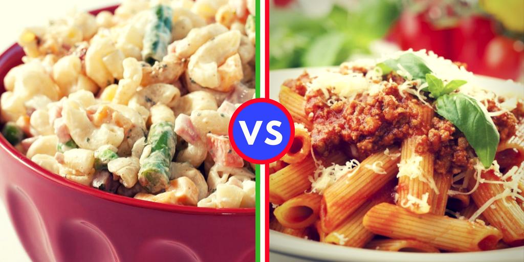 Macaroni Salad VS pasta con i maccheroni